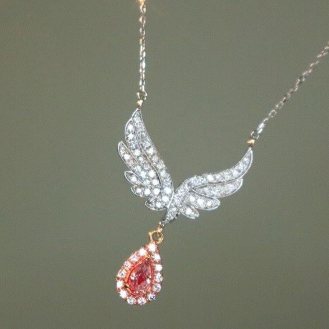 天然ピンクダイヤモンドネックレス0.57ct k18
