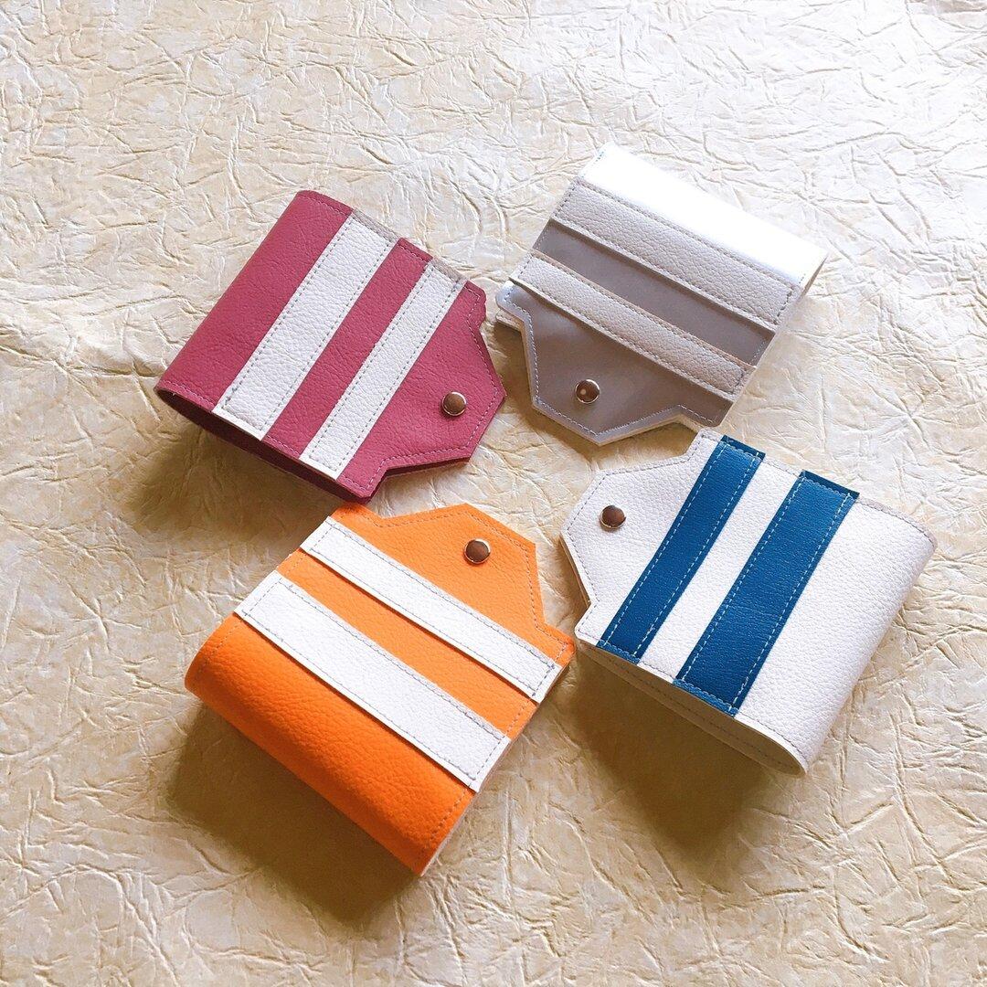 【ストライプ】椅子屋さんの合皮で作った仮置きマスクケース