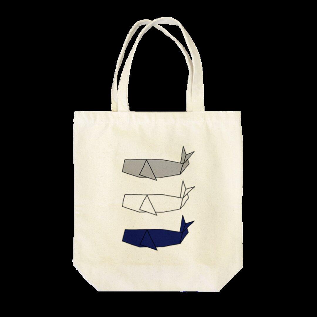 折り紙マッコウクジラのトートバッグ【受注生産】