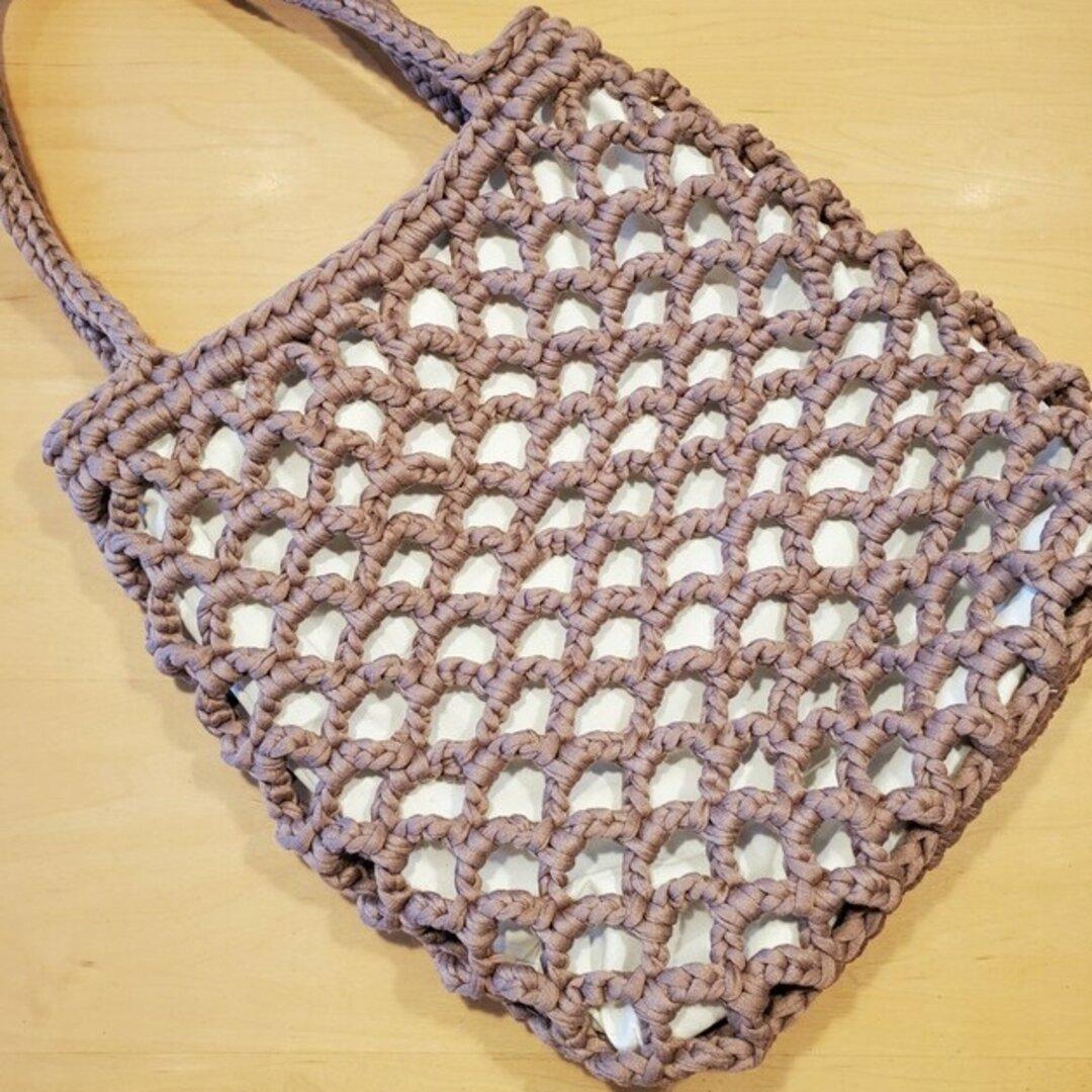 チョコレート色のネットバッグ