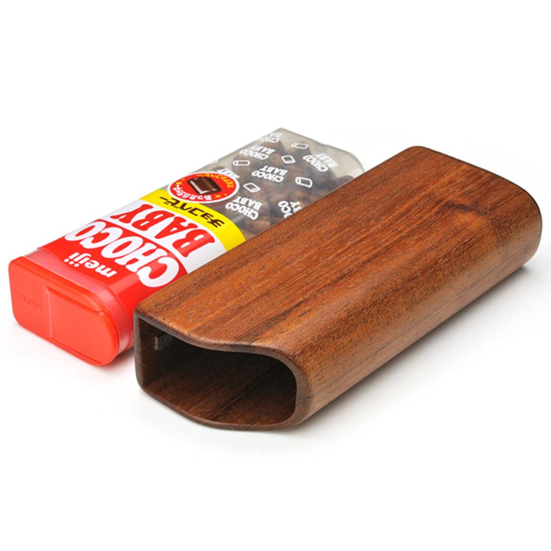 木で作った チョコベビー専用ケース