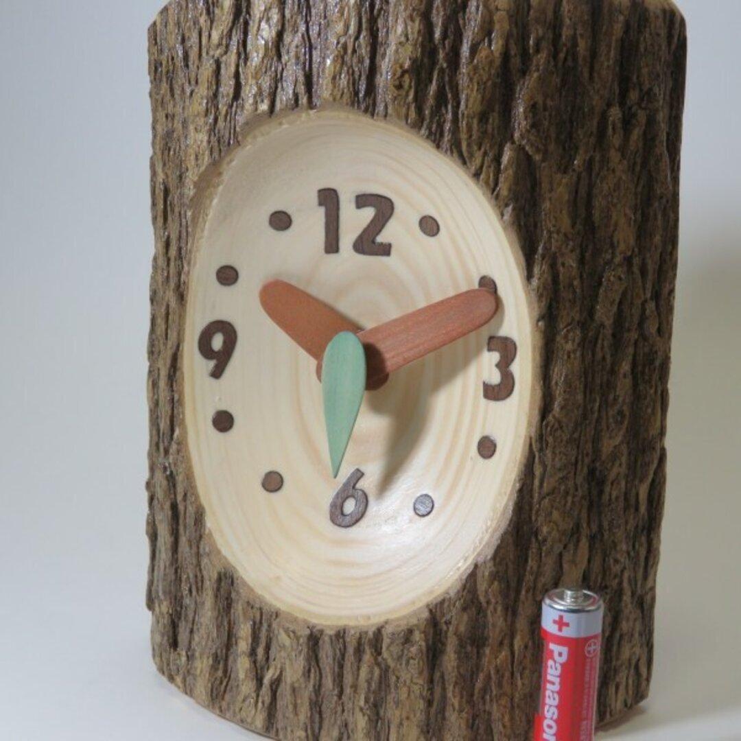 森の時計 カヤの木の置時計
