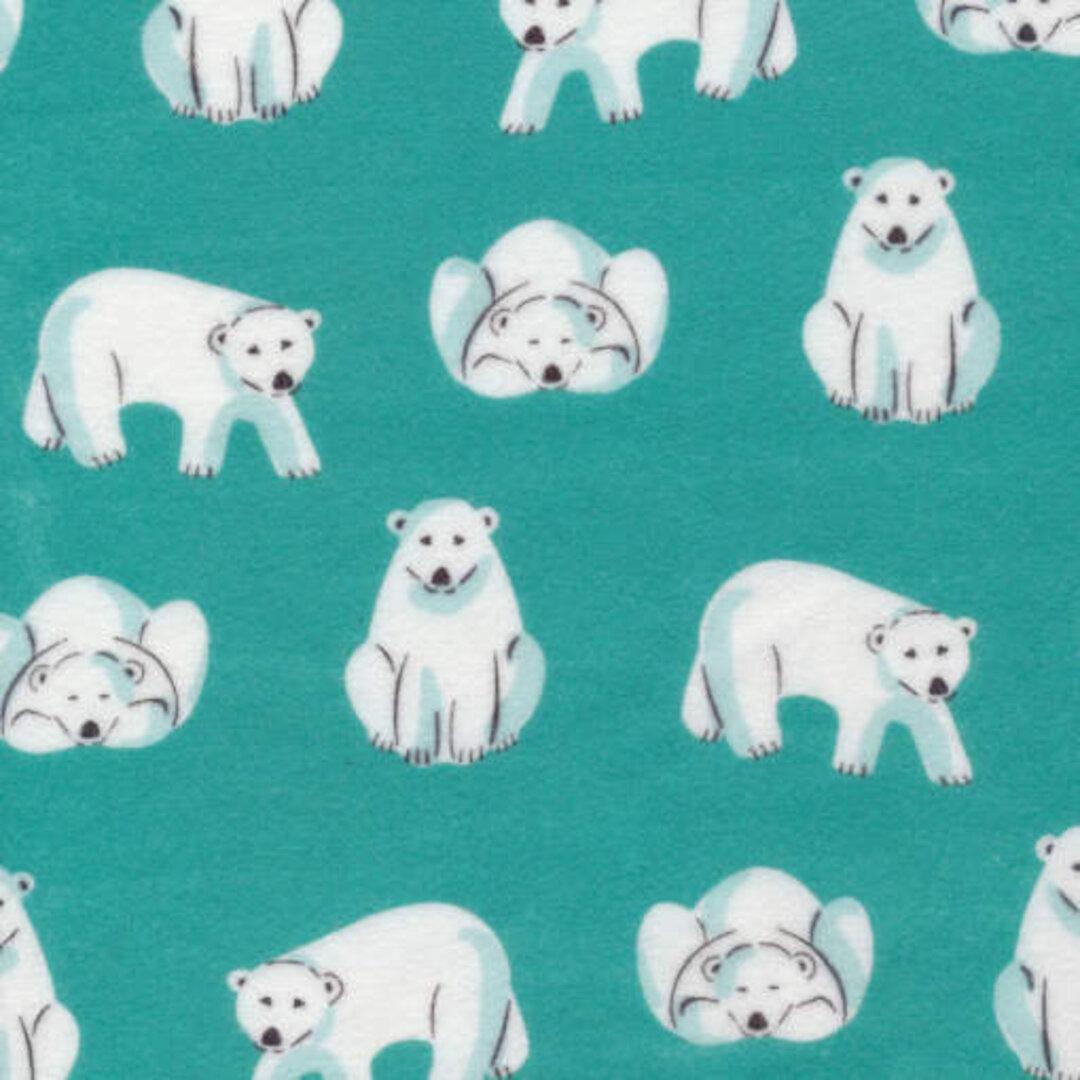 アメリカCloudnineフランネルカットクロス NORTHERLYポーラーベア◎北極熊 くま