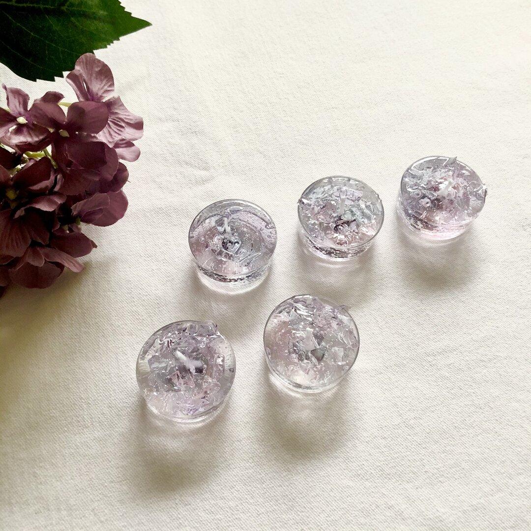 雨と紫陽花のティーライトキャンドル 5個set