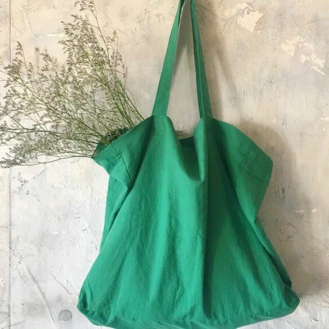 cotton linen bag (green)