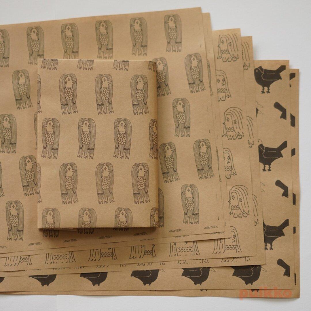 紙製ブックカバー アマビエ+ヨゲンノトリ