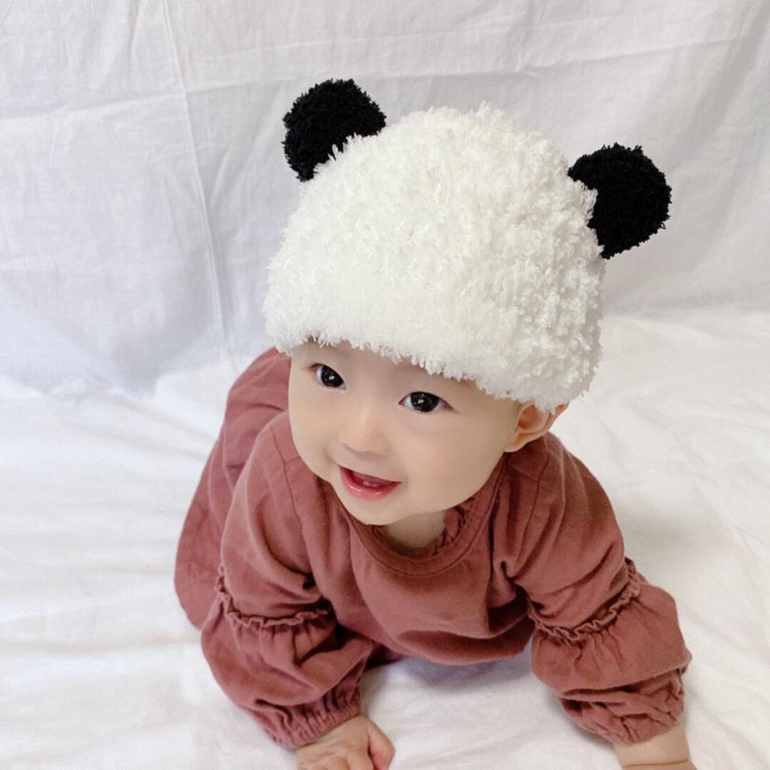 モコモコあったか🐼パンダさん帽子 ニット帽