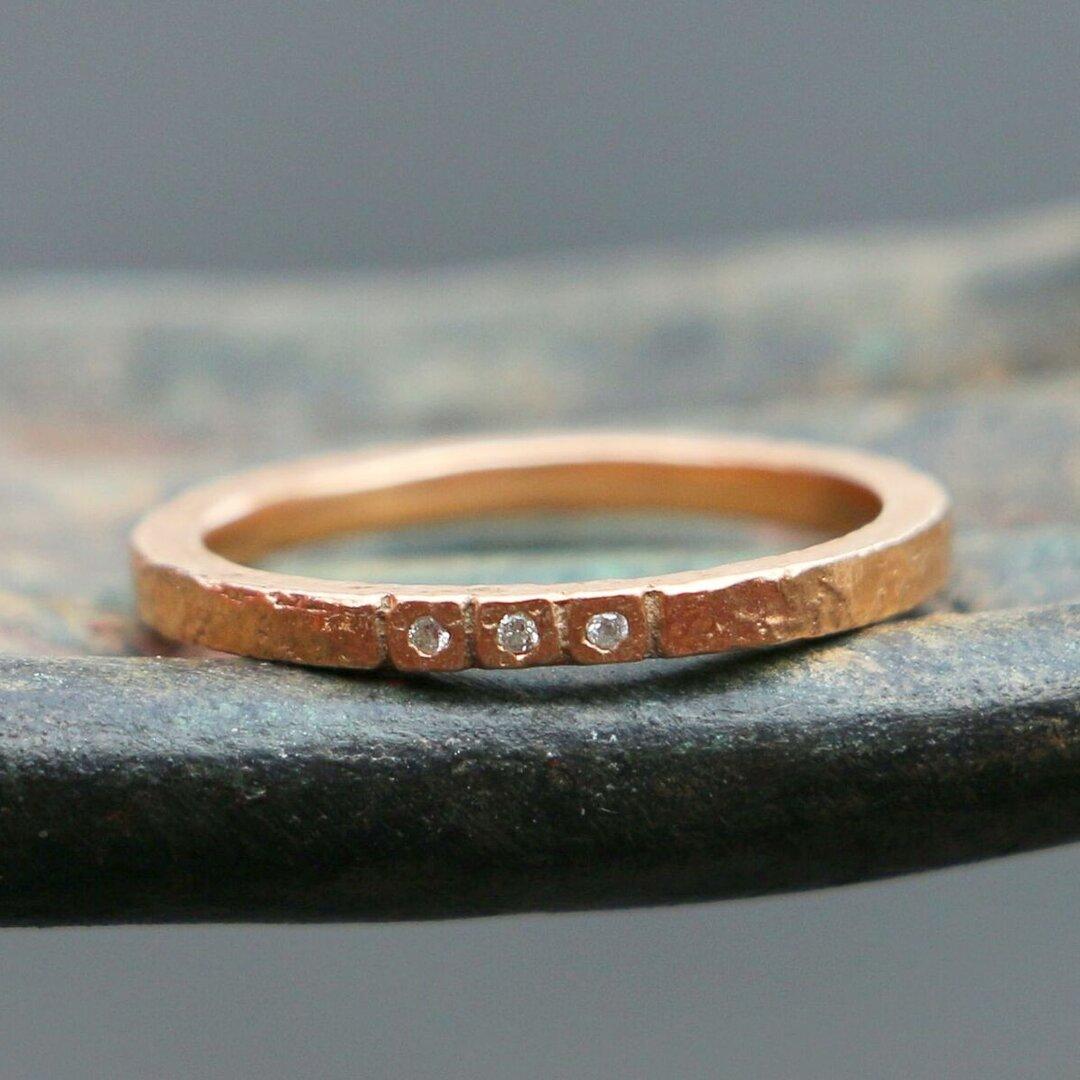 SALE*天然ダイアモンド 指輪*8号 GP