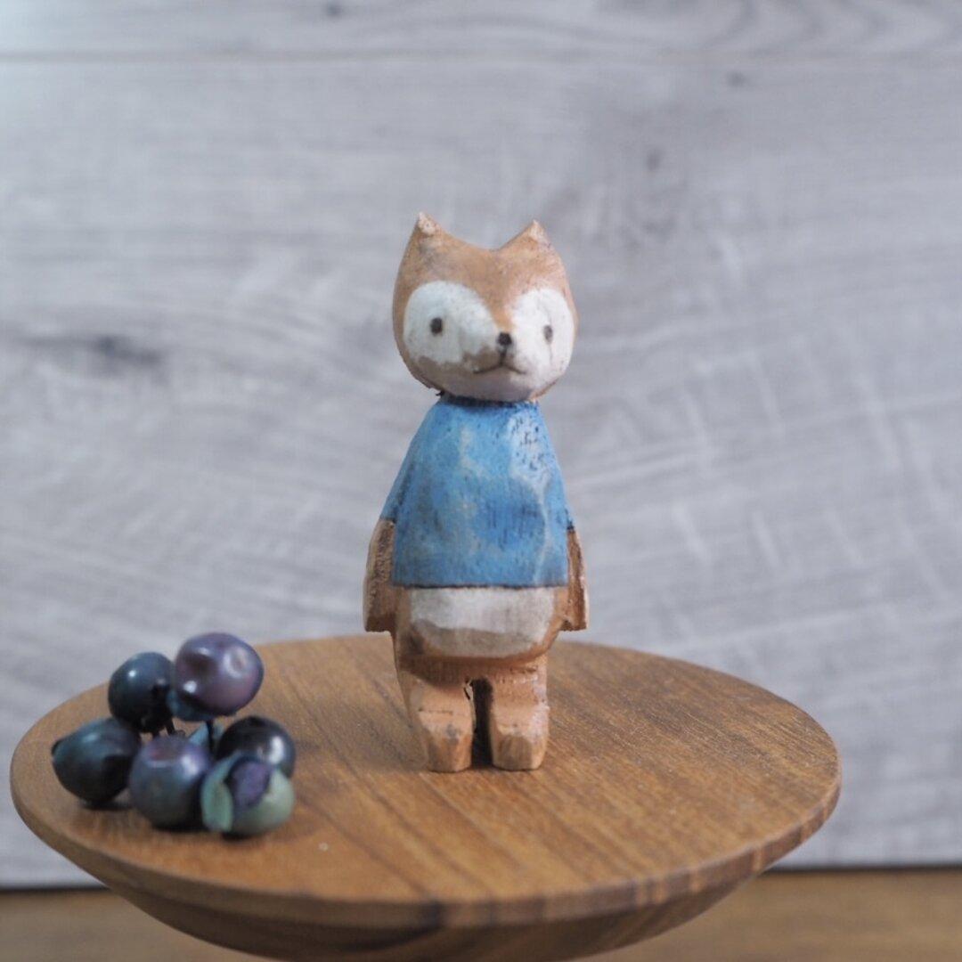 きつねのププ 木彫り #143