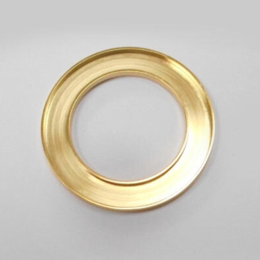 S◆Pキラキラ アクセサリー パーツ サークル 円形 チャーム 外径:30.0mm 手作り (ハンドメイド) ペンダントフレーム パーツ ステンレス316L (ゴールド)