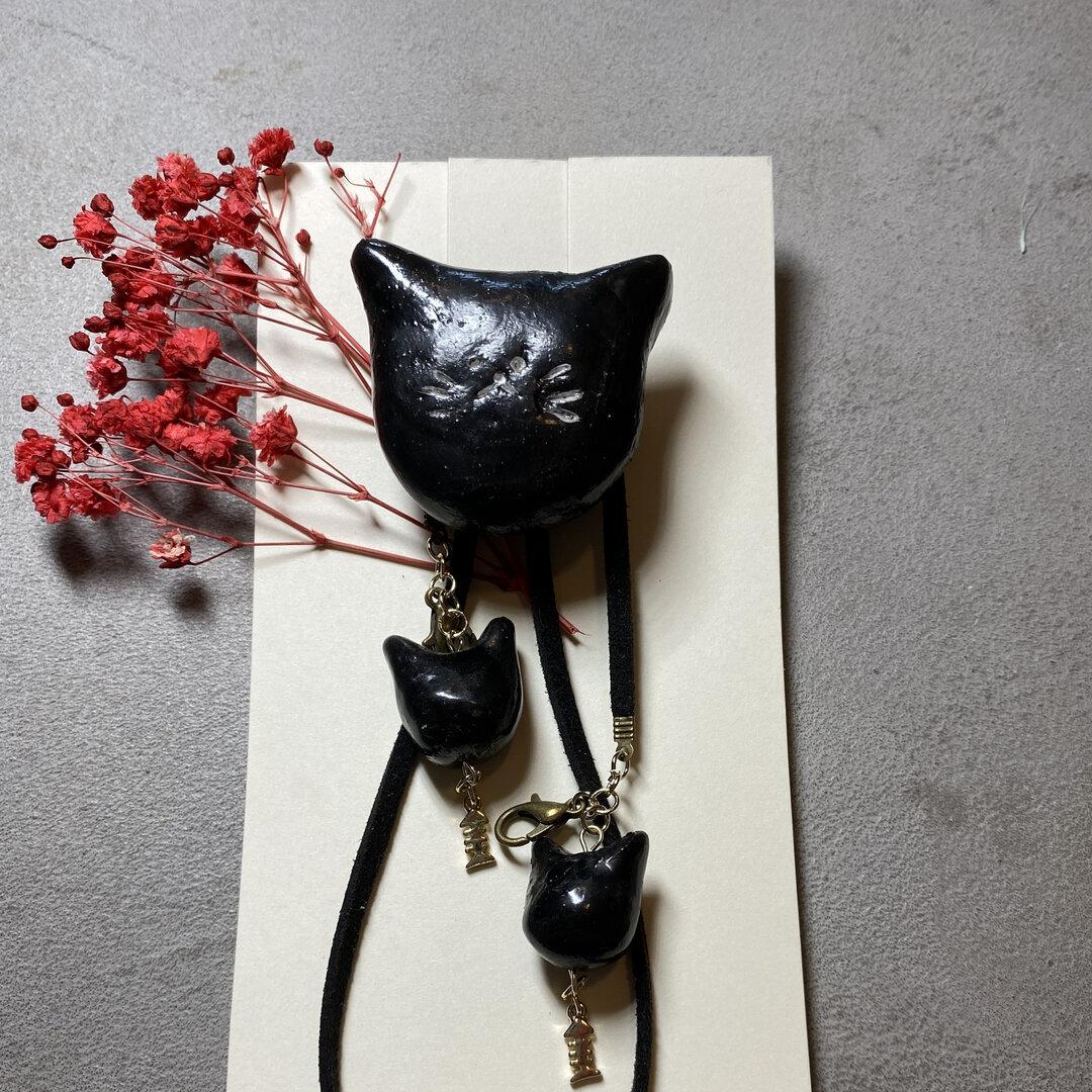 【オーブン陶土】クロネコのマスクコード