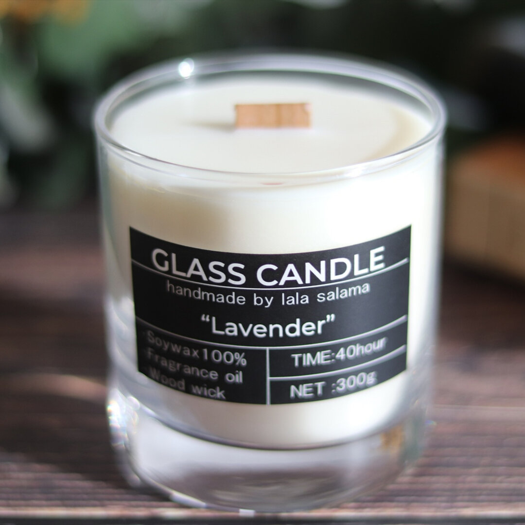 SOY GLASS CANDLE【wood wick】