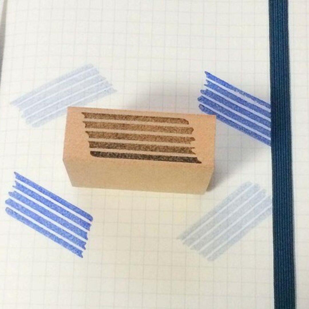 マスキングテープみたいなはんこ 横縞 ボーダー 手帳用スタンプ ミニスタンプ 飾りはんこ マスキングテープ
