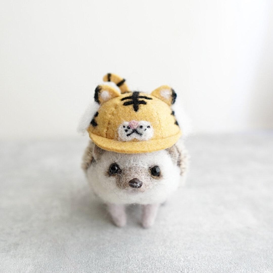虎さんキャップ/ハリネズミ・小動物用帽子
