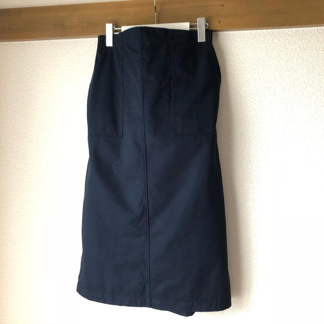 紺 チノ ベイカースカート