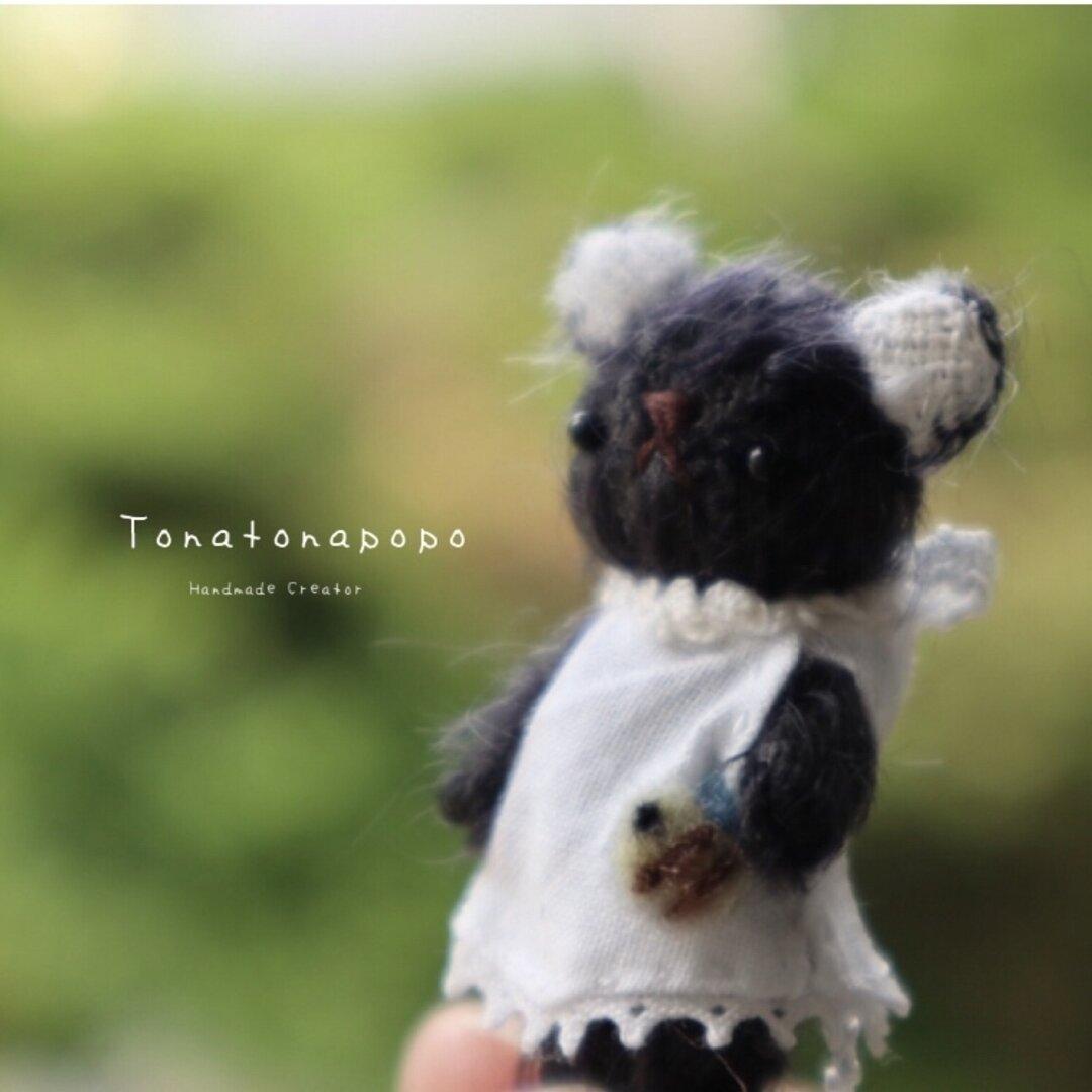 【受注製作】ミニマムくろくまちゃん 5.5㎝ テディベア