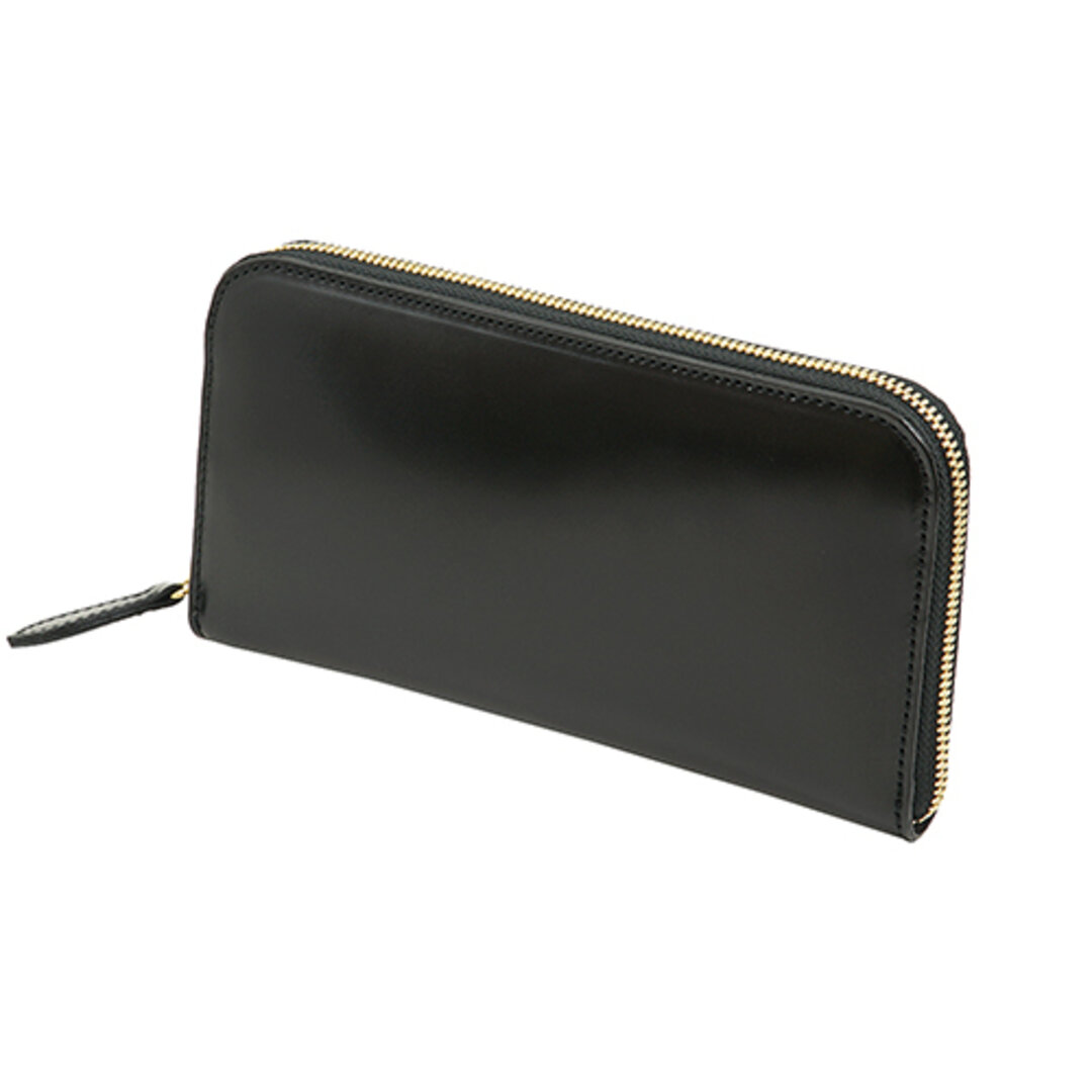 【限定2本】コードバン ラウンドファスナー型 メンズ 長財布  ブラック