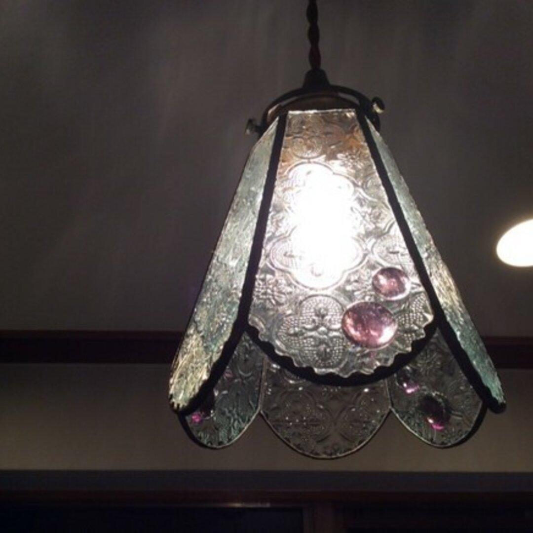 フローラガラスのペンダントランプ☆彡 (灯具のセット)