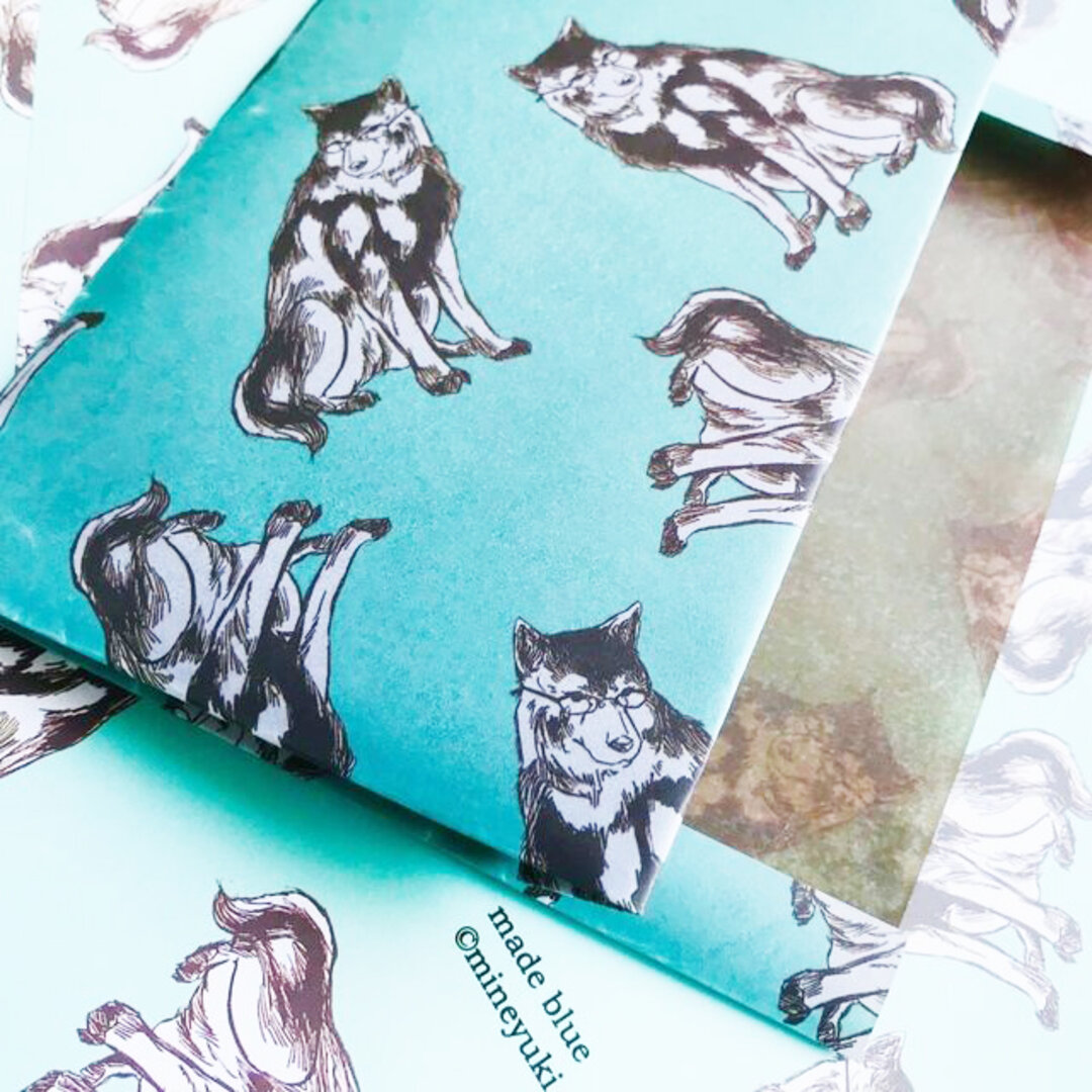 Megane Wolf dog  -Waxpaper Bookcover