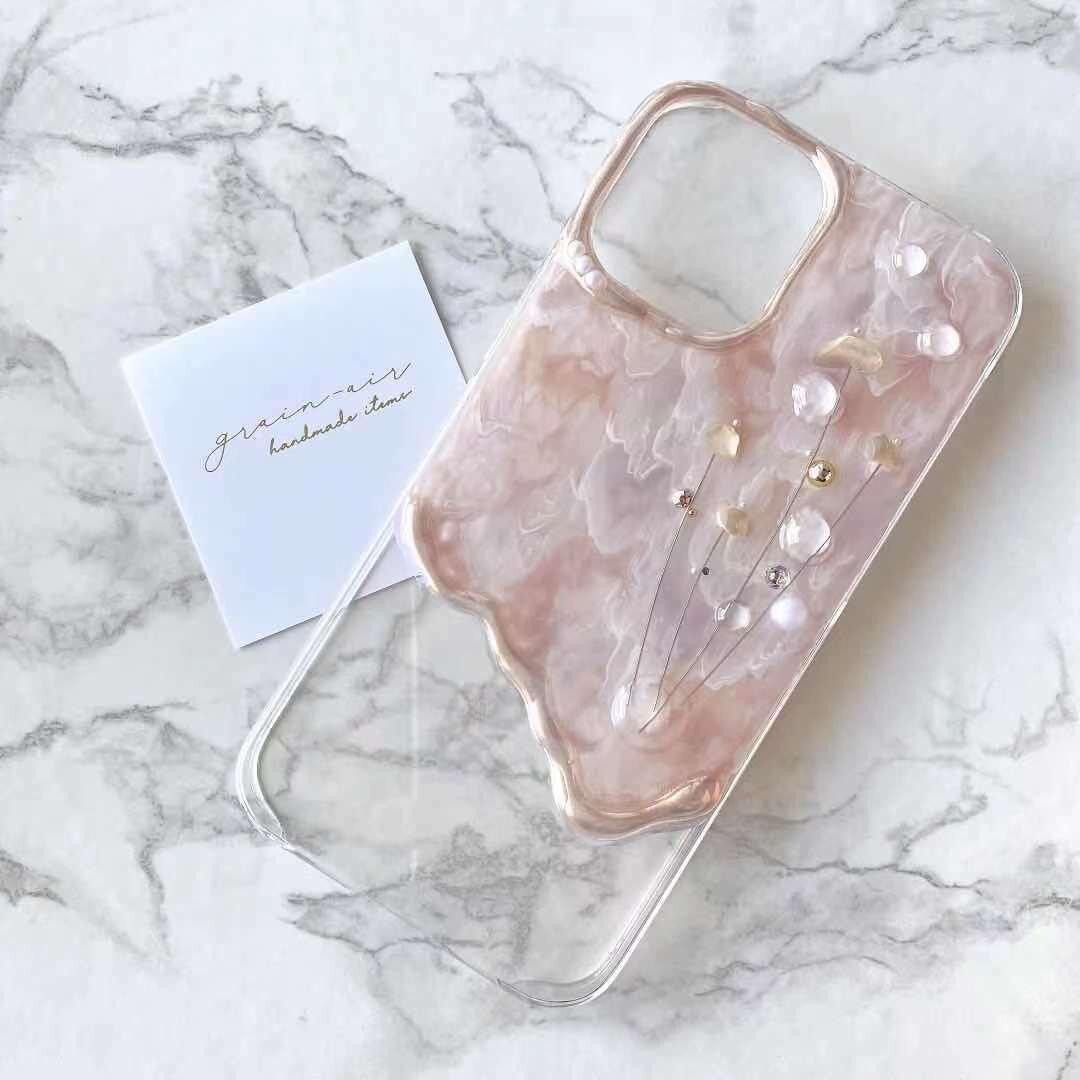 <G-1> nuance shell flower design iPhone case