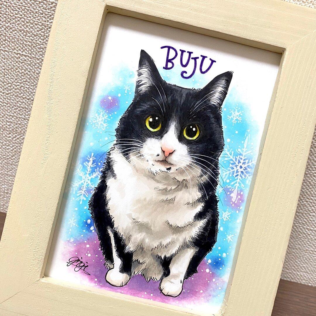 ペット似顔絵イラスト/おしゃれなペン画に!猫、犬、うさぎ、などなどどんなペットさんでも^^