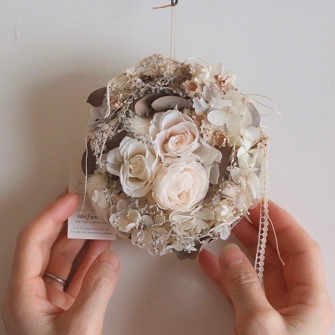 小さな花飾り(pf-105)ドライフラワー スワッグ ガーランド