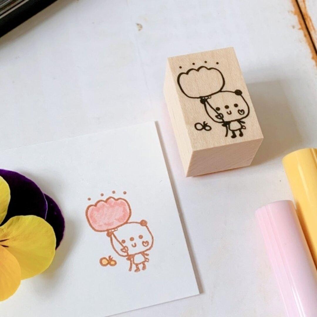 丸善 パンダのお花スタンプ