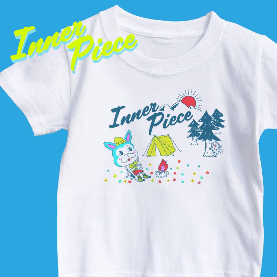 kid'sサイズ キャンプTシャツ インナーピース オリジナル フレブル アウトドア 親子コーデ