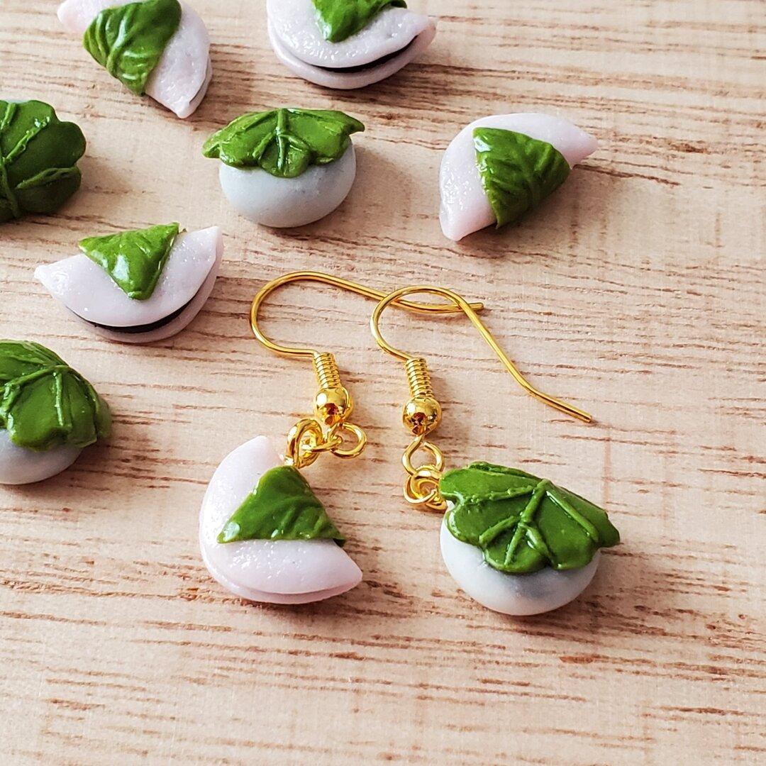 桜餅と柏餅ピアスorイヤリング ミニチュアフード