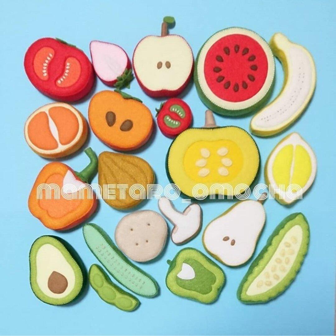 【型紙レシピ】野菜と果物