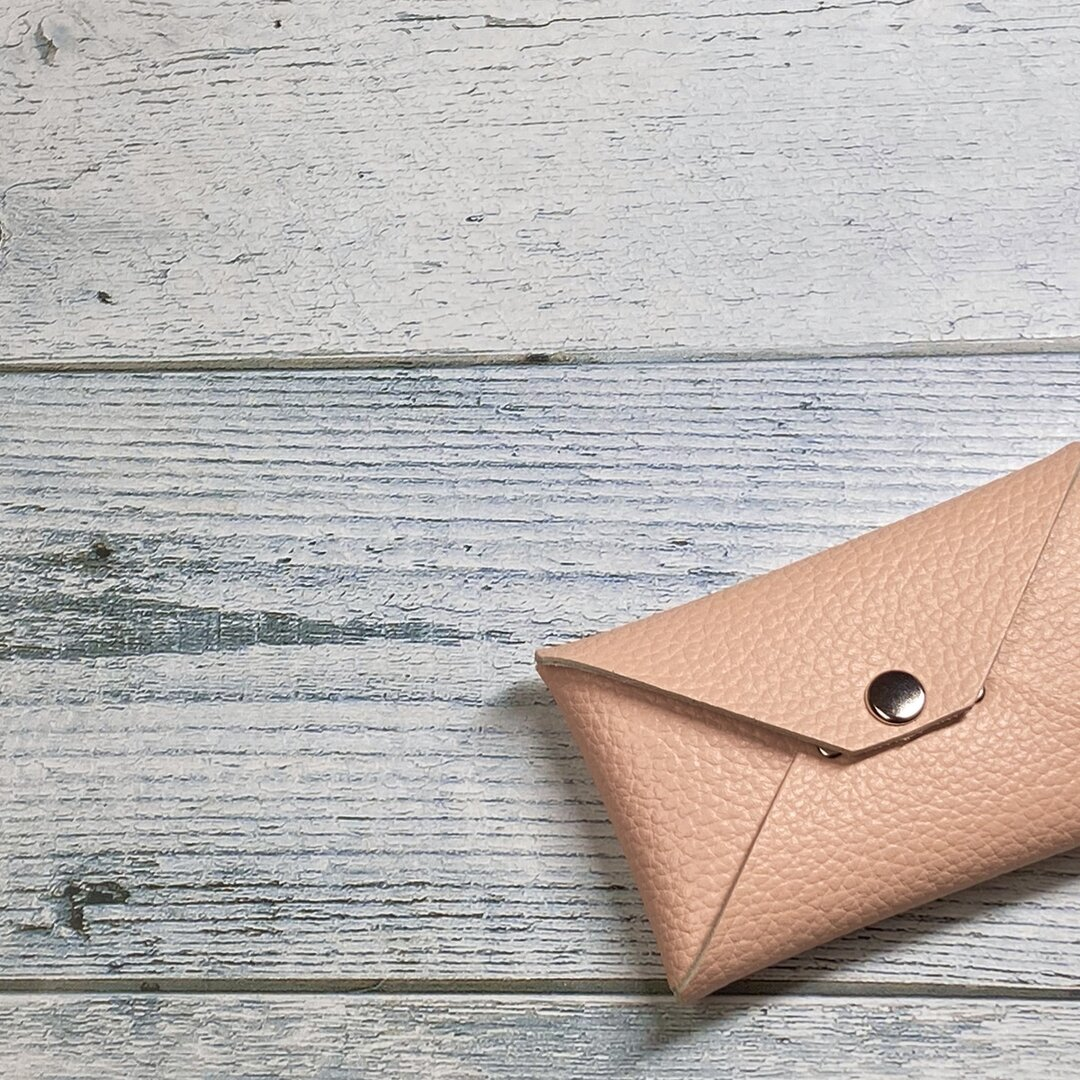 ✉L.A.N's  CCB  leather case ✉【牛革 ネールピンク系】