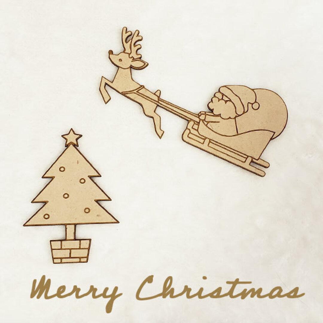 クリスマス 飾り 木製バナー クリスマスバナー 北欧雑貨 北欧クリスマス クリスマスツリー サンタクロース トナカイ 壁面用バナー 撮影素材 インテリア雑貨  送料無料