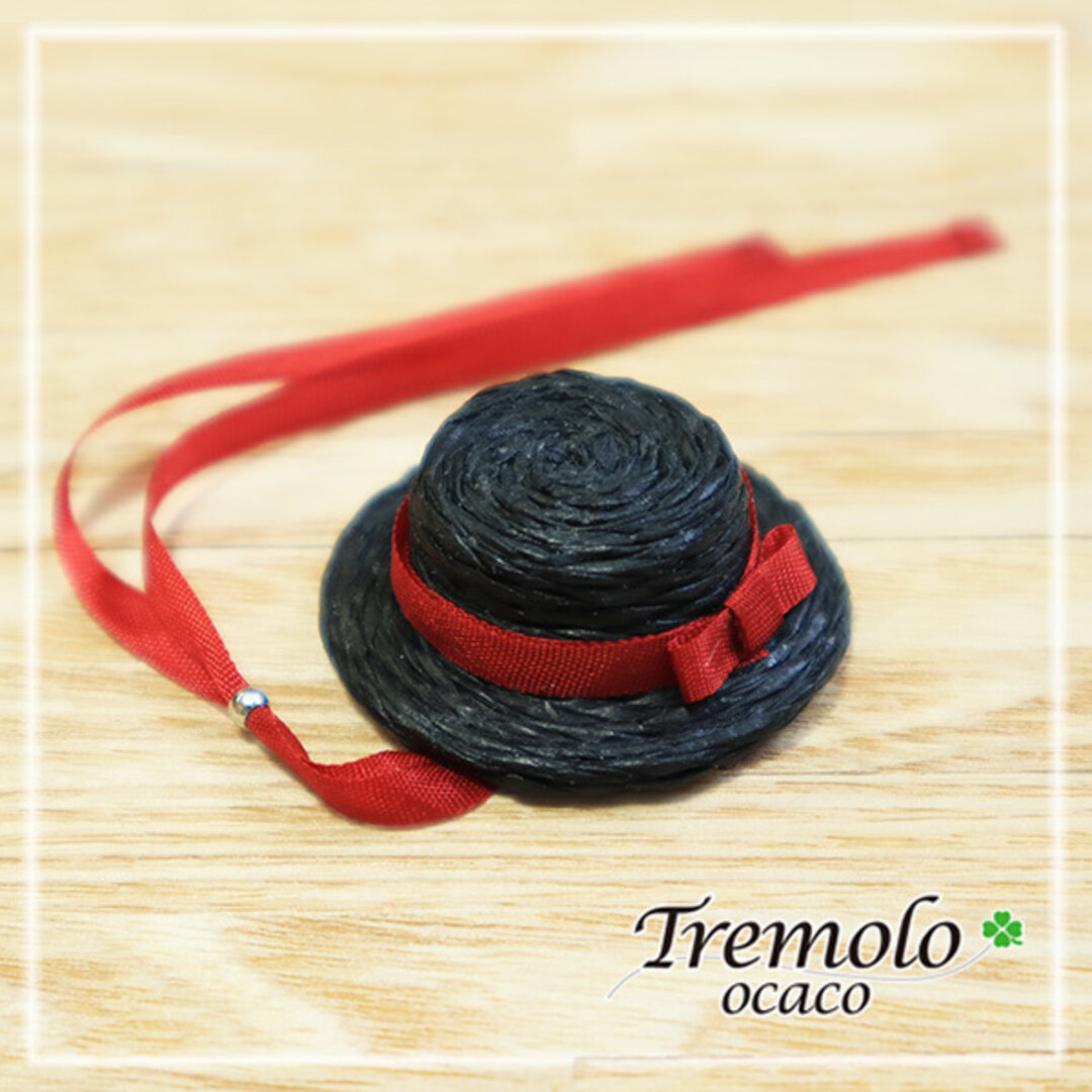 miniカンカン帽子/Black