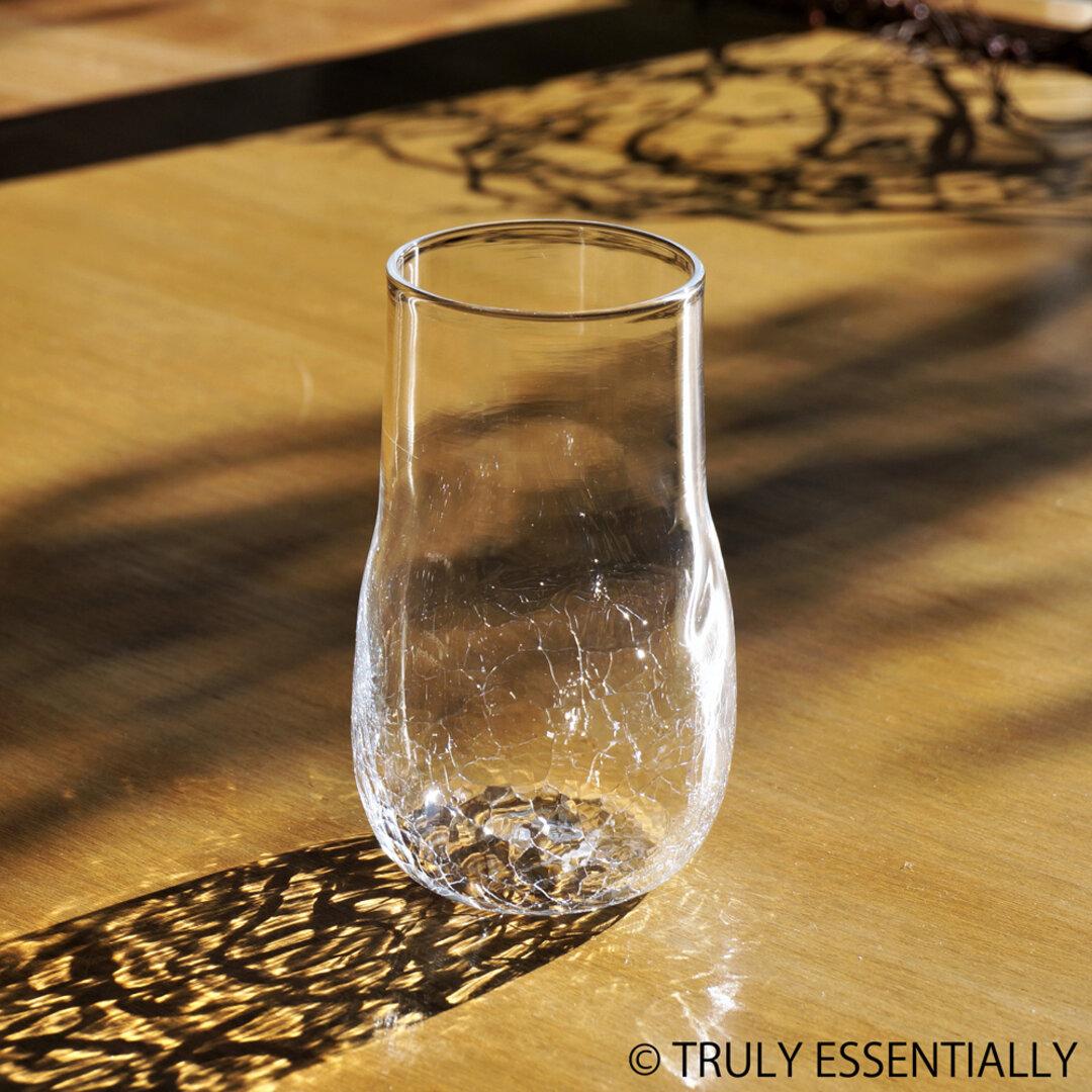 無色透明のグラス - 「KAZEの肌 」#355・ 高さ13cm●【 1点限定制作 】