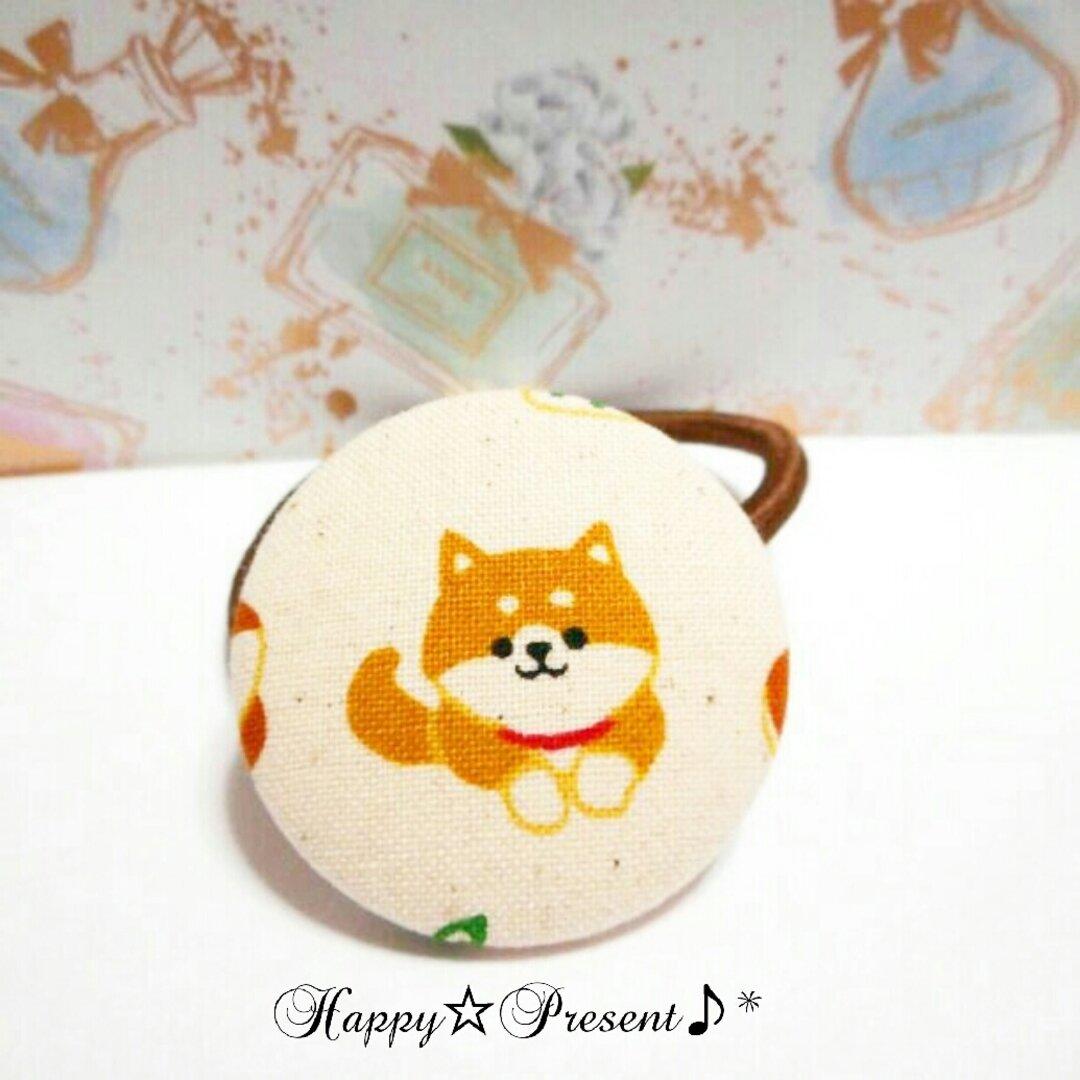 再販×6!柴犬の可愛い💓くるみボタンのヘアゴム🐶❤✨② 送料無料 大人可愛い プチプラ プチギフト ラッピング 犬