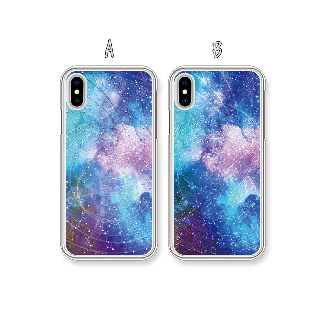 【受注生産】*選べる*『時を刻む宇宙 ver.01』12星座/時/ハード/TPU/スマホケース/iPhone/Android/Xperia/AQUOS/ARROWS/Galaxy