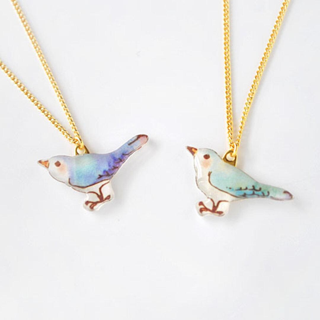 【雑誌掲載】Bird Necklace  幸せの青い鳥ネックレス【LOVE!ことり掲載】