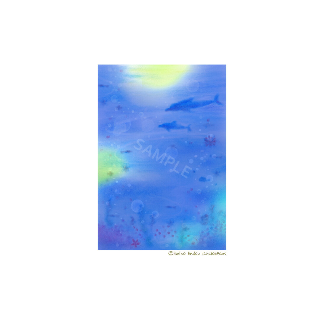 【選べるポストカード5枚セット】No.25 海の中