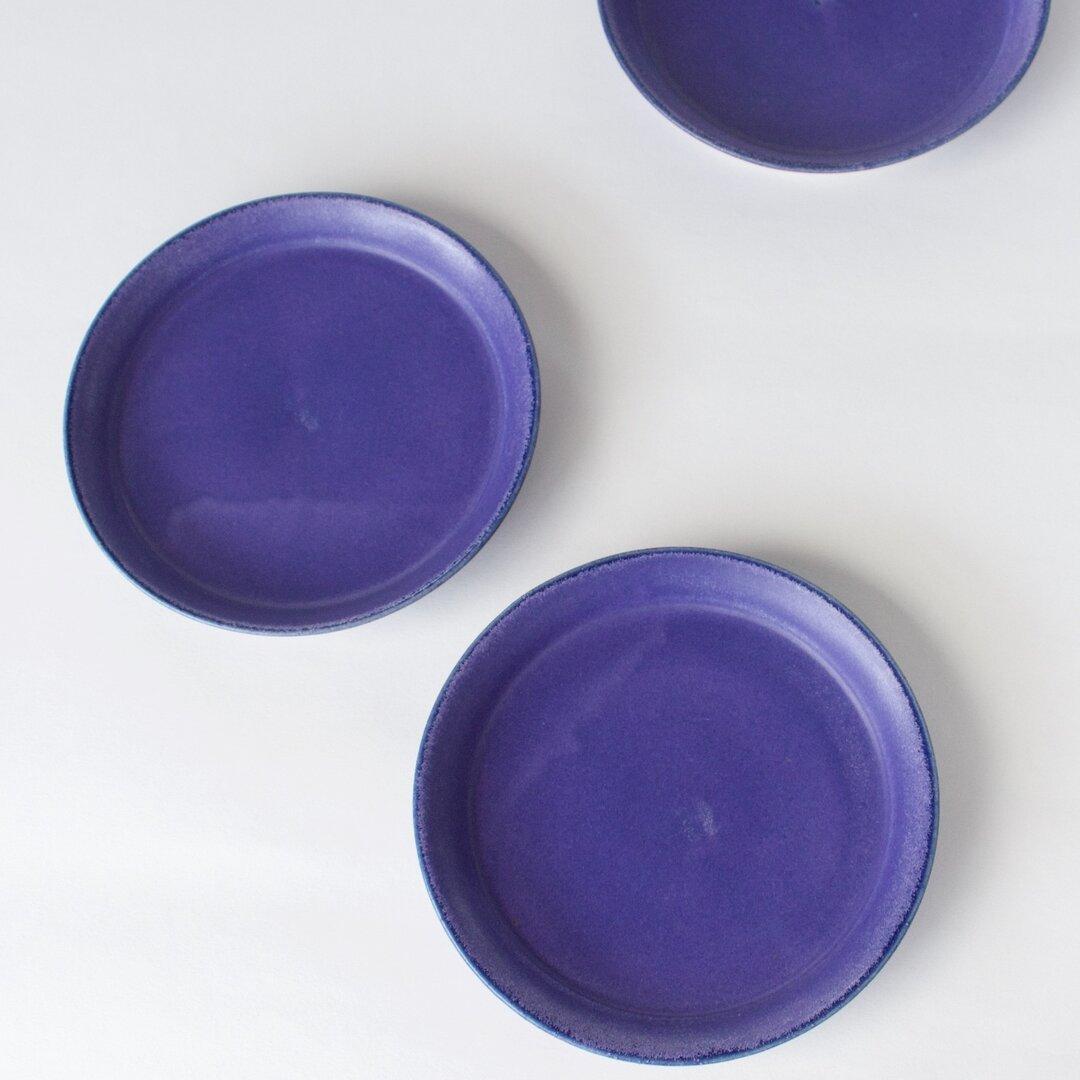 茄子紺釉5寸皿