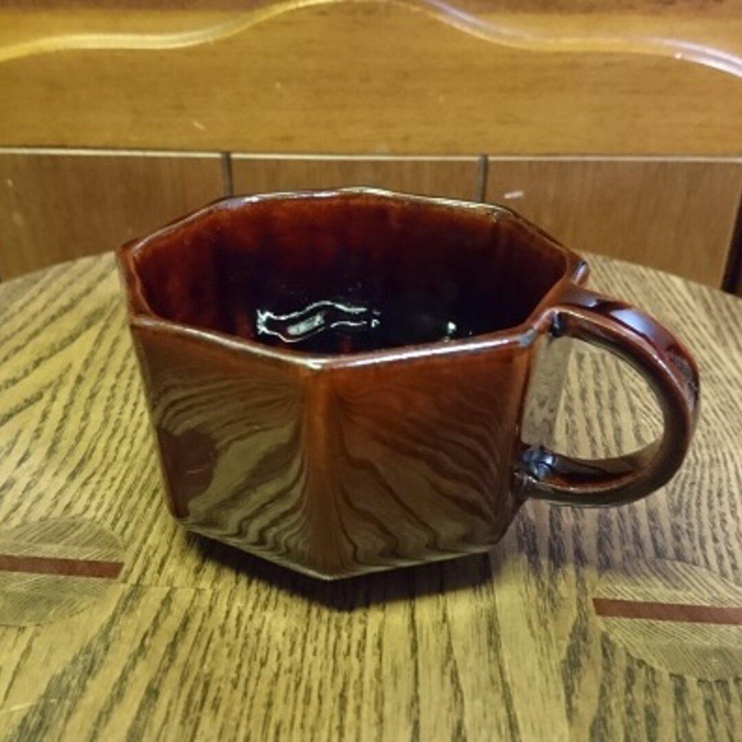八角形のティーカップ(飴釉)