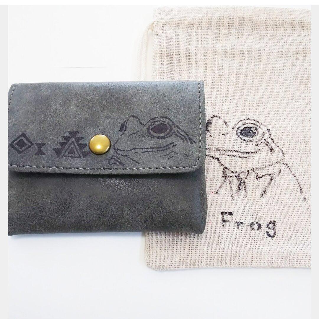 コインケースとミニ巾着セット カエル