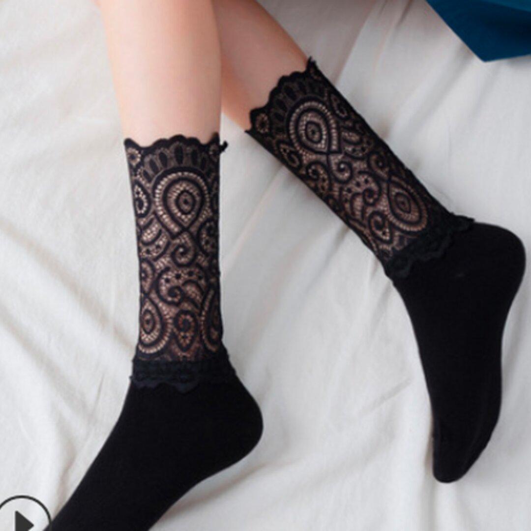 【2足セット】デザイン ソックス 可愛い オシャレ 靴下