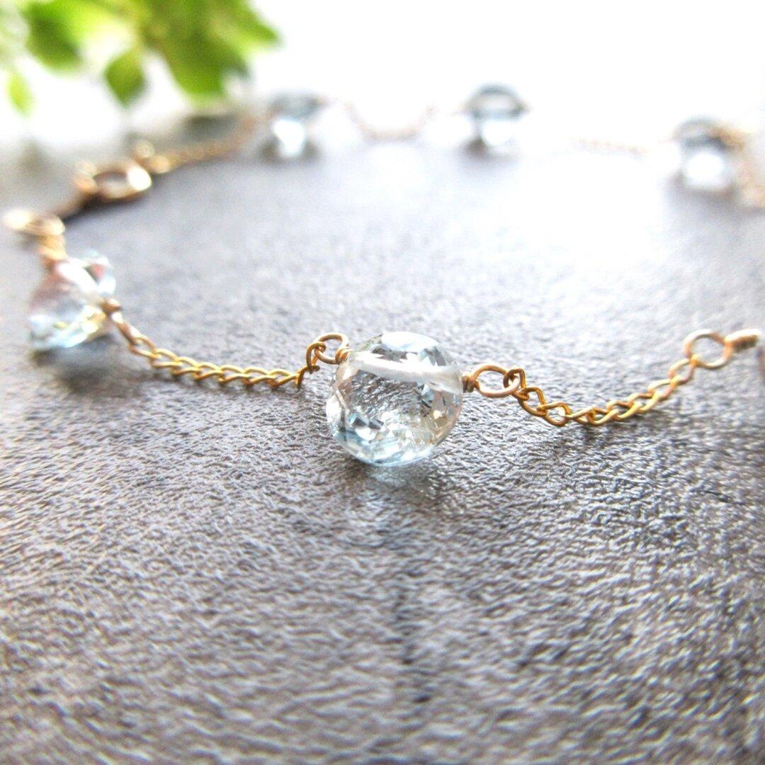 14kgf sky blue Topaz full circle bracelet