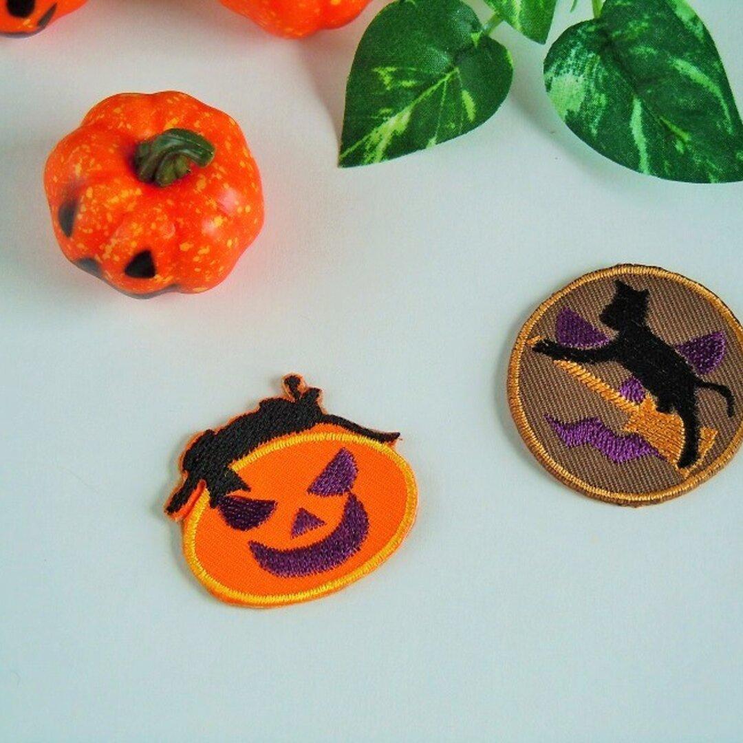 ハロウィン黒猫ブローチ 刺繍
