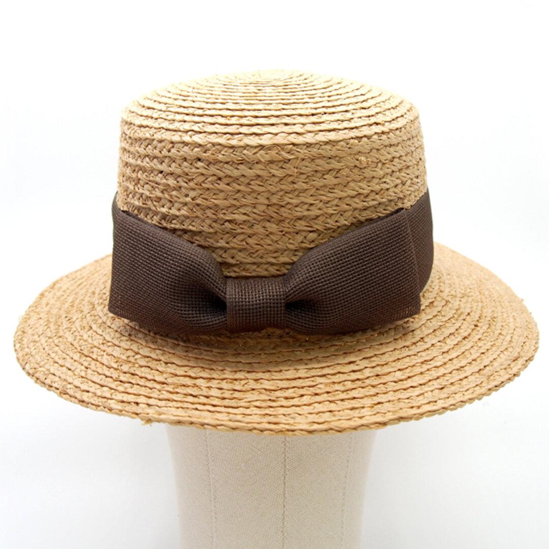 カンカン帽子【ラフィア×メッシュリボン】