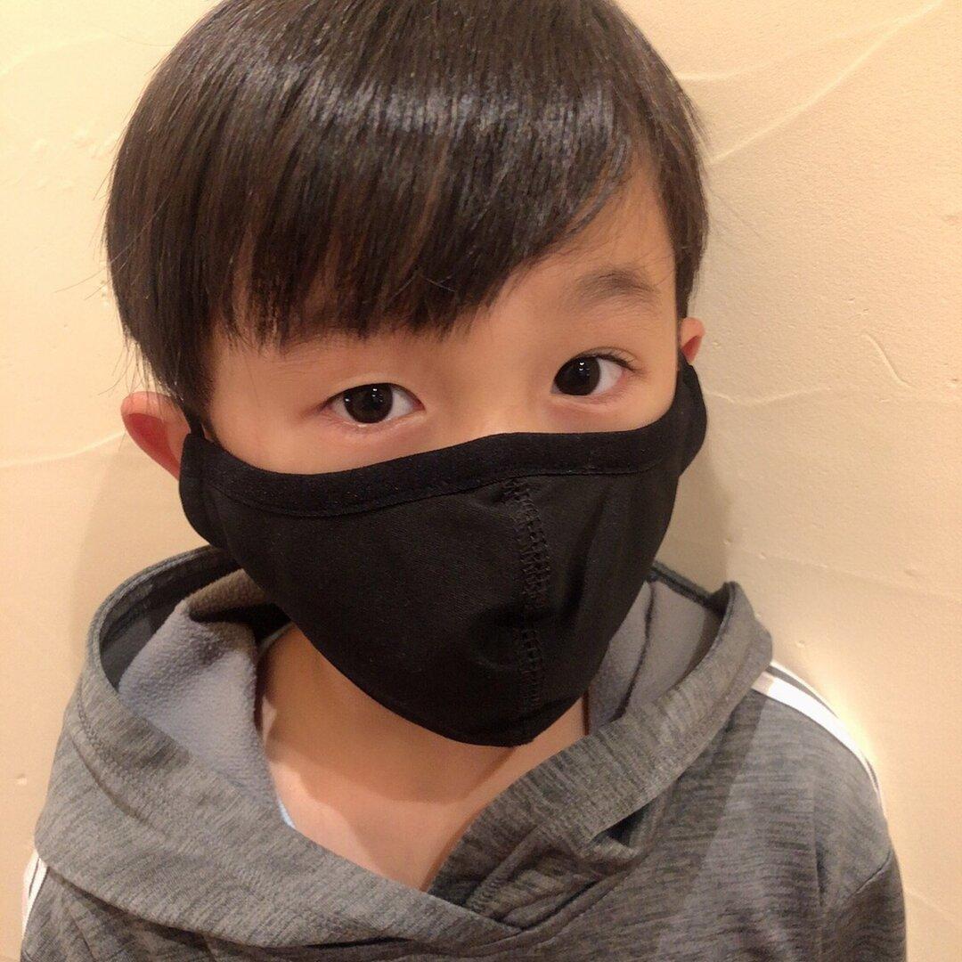 【Sサイズ】銅繊維入りマスク2枚組【黒】