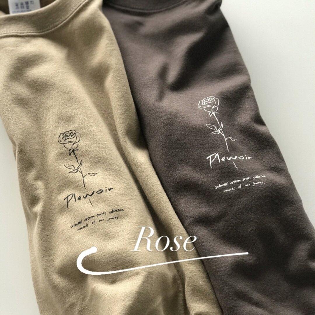 【2日間限定SALE】ローズ / ユニセックス・ビッグシルエットTシャツ / 全2色