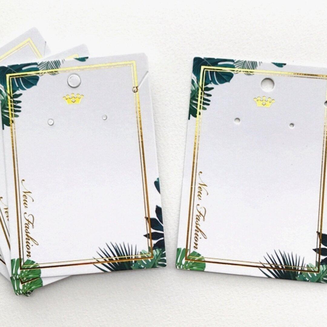 10枚【 DS-46】アクセサリー台紙 ♡ ラッピング台紙   キラキラ ピアス /ネックレス台紙