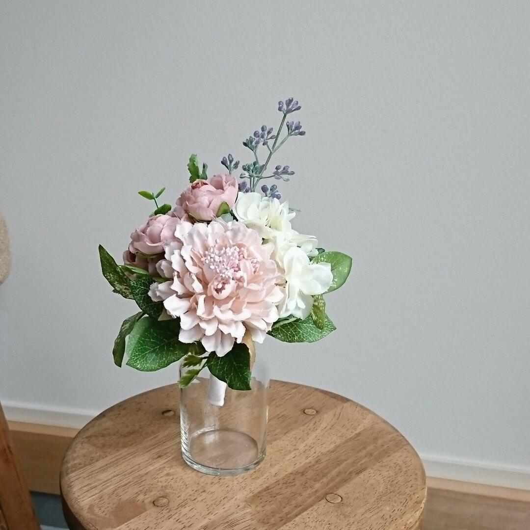 小さなブーケ**artificial Flower**ピンク
