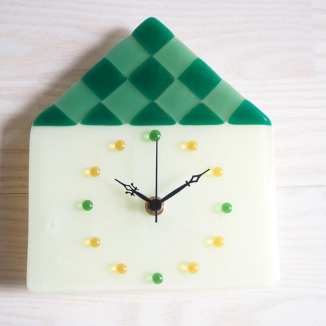 ガラスのお家時計